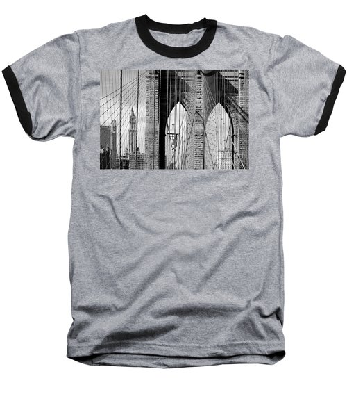 Brooklyn Bridge New York City Usa Baseball T-Shirt