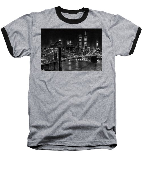 Brooklyn Bridge New York Baseball T-Shirt