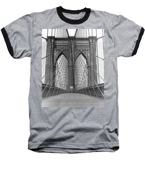 Brooklyn Bridge Promenade Baseball T-Shirt