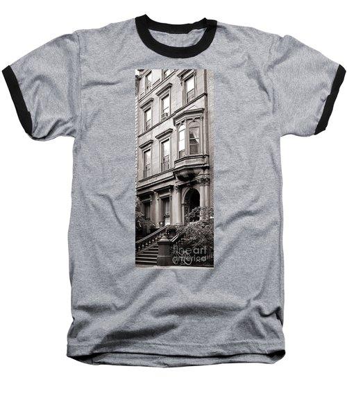 Brooklyn Heights -  N Y C - Classic Building And Bike Baseball T-Shirt