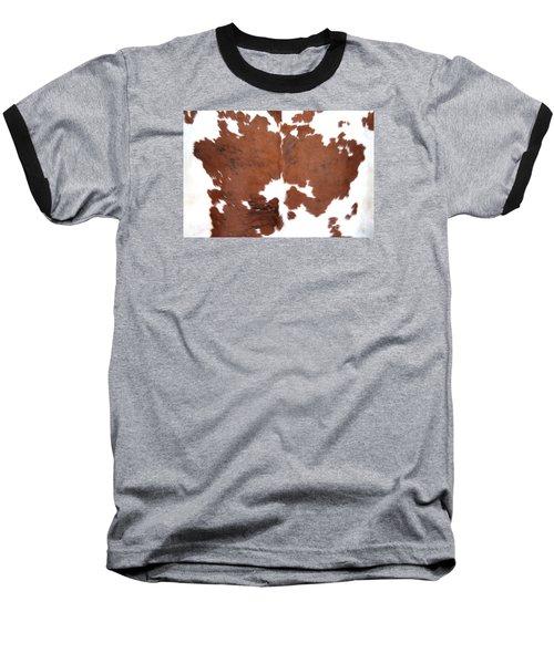 Brown Cowhide Baseball T-Shirt by Gunter Nezhoda