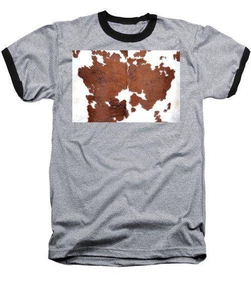 Brown Cowhide Baseball T-Shirt