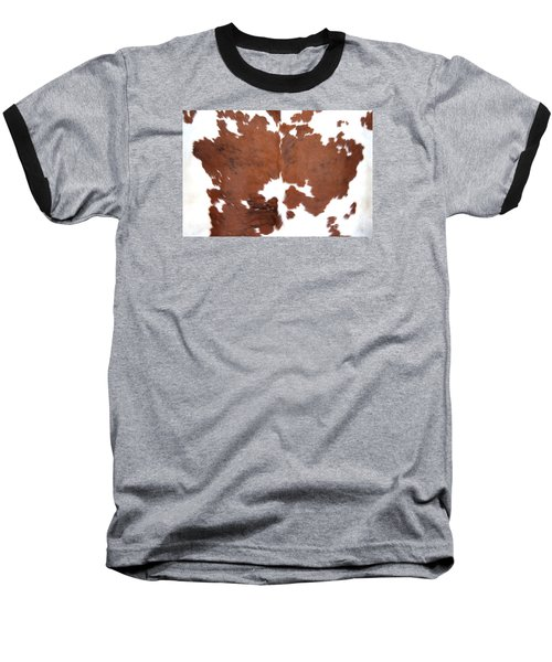 Brown Cowhide Baseball T-Shirt