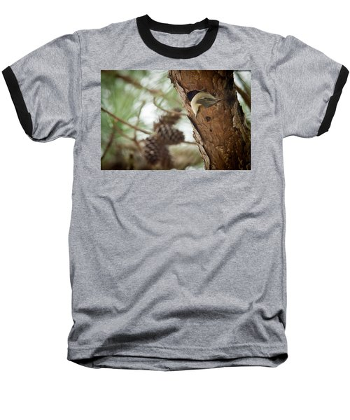 Brown Headed Nuthatch Baseball T-Shirt by Linda Unger