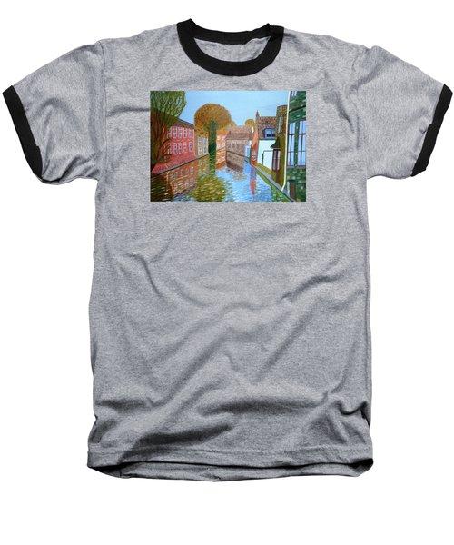 Brugge Canal Baseball T-Shirt