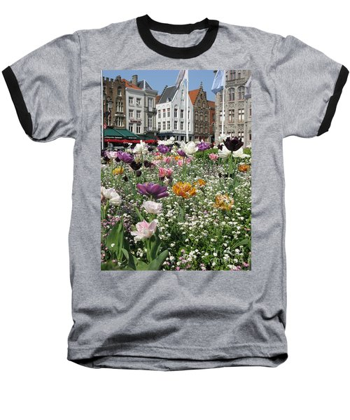 Baseball T-Shirt featuring the photograph Brugge In Spring by Ausra Huntington nee Paulauskaite