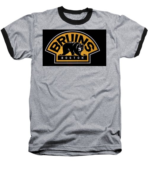 Baseball T-Shirt featuring the photograph Bruins In Boston by Caroline Stella
