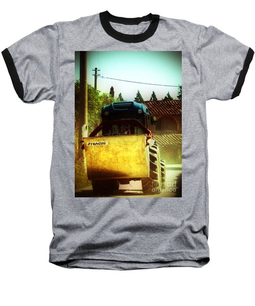Brunello Taxi Baseball T-Shirt by Angela DeFrias