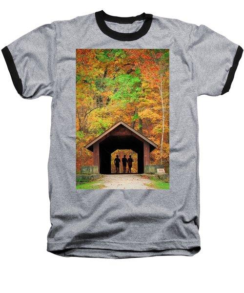 Brush Creek Covered Bridge Baseball T-Shirt