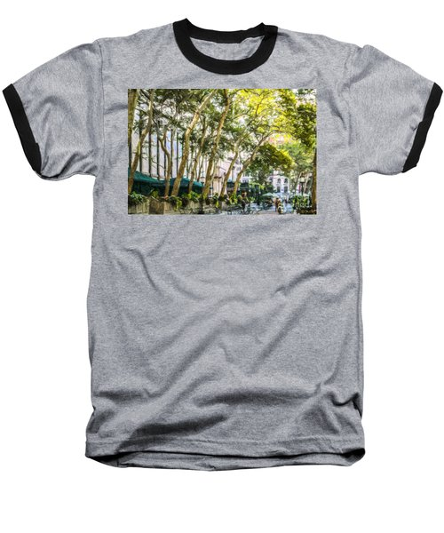 Bryant Park Midtown New York Usa Baseball T-Shirt