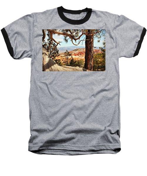 Bryce Canyon Through The Trees Baseball T-Shirt
