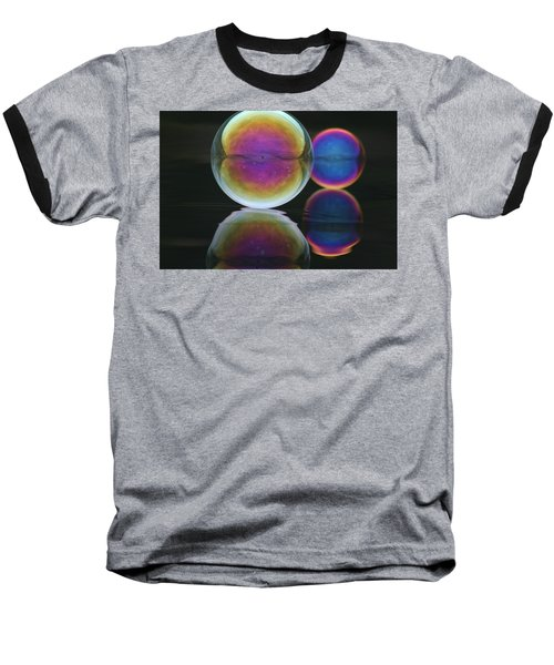 Bubble Spectacular Baseball T-Shirt by Cathie Douglas