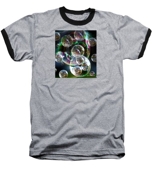 Bubbles And More Bubbles Baseball T-Shirt by Nareeta Martin