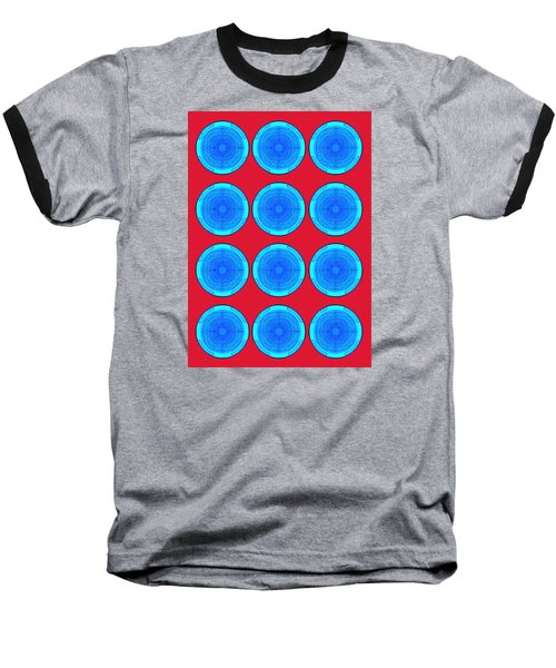 Bubbles Minty Blue Poster Baseball T-Shirt