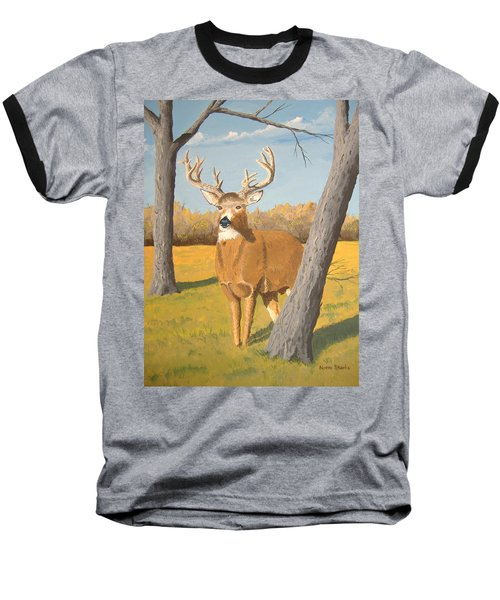 Bucky The Deer Baseball T-Shirt by Norm Starks