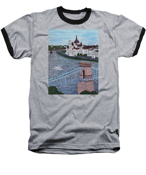 Budapest Bridge Baseball T-Shirt by Jasna Gopic