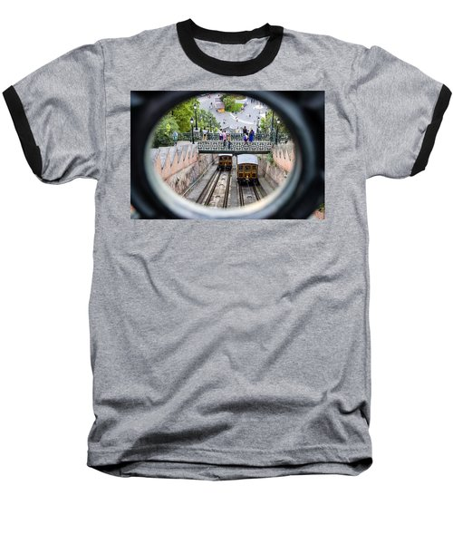 Budapest Castle Hill Funicular Baseball T-Shirt