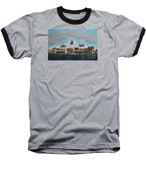 Budapest Parliament By Jasna Gopic Baseball T-Shirt by Jasna Gopic