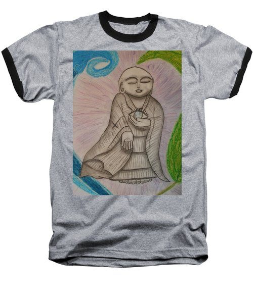 Buddha And The Eye Of The World Baseball T-Shirt