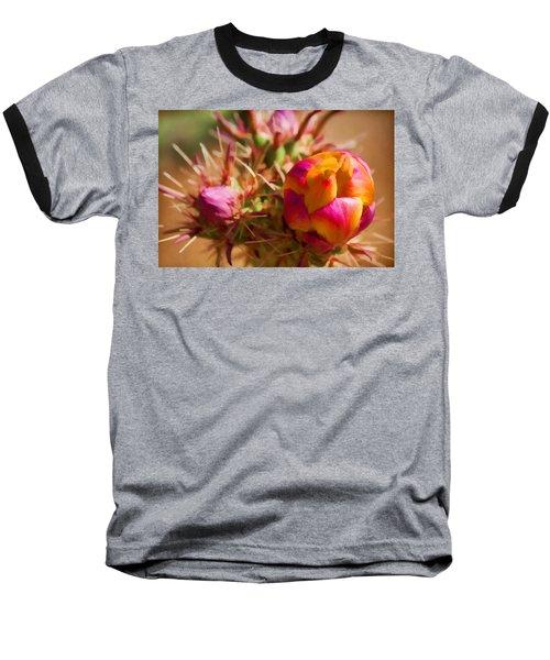 Budding Cactus Baseball T-Shirt by Fred Larson