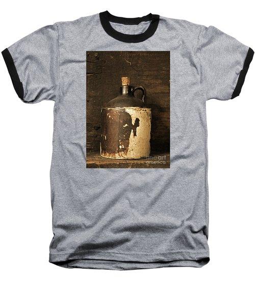 Buddy Bear Moonshine Jug Baseball T-Shirt by John Stephens