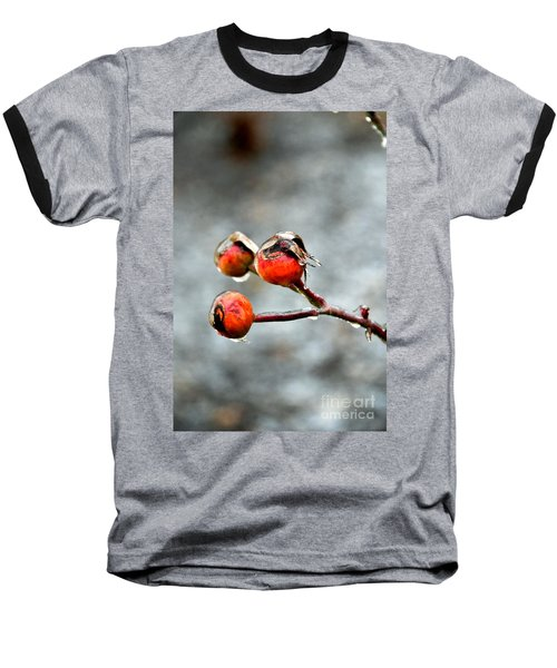 Buds On Ice Baseball T-Shirt by Bonnie Myszka