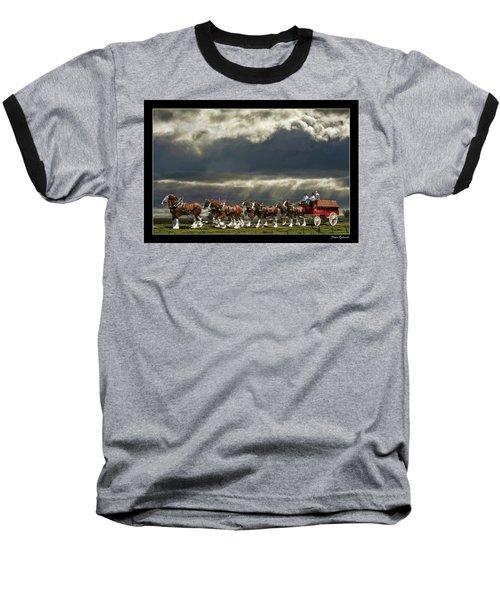 Budweiser Clydesdales Baseball T-Shirt