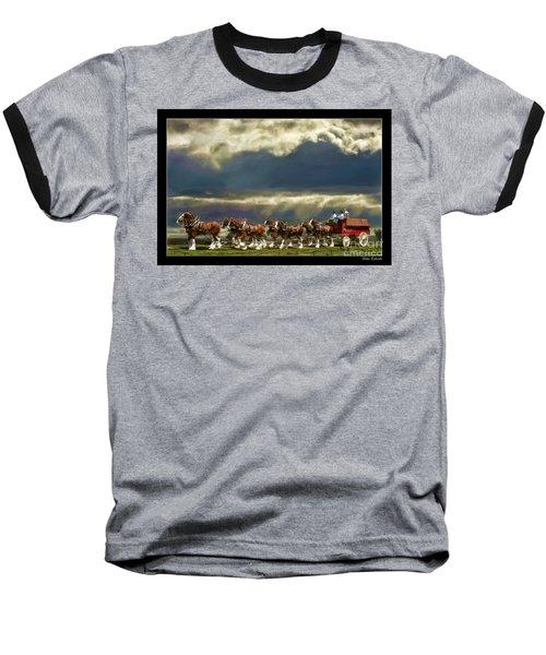 Budweiser Clydesdales Paint 1 Baseball T-Shirt