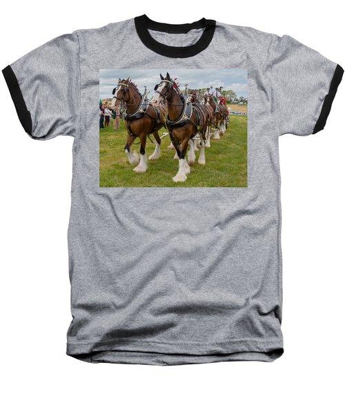 Budweiser Clydesdales Baseball T-Shirt by Robert L Jackson