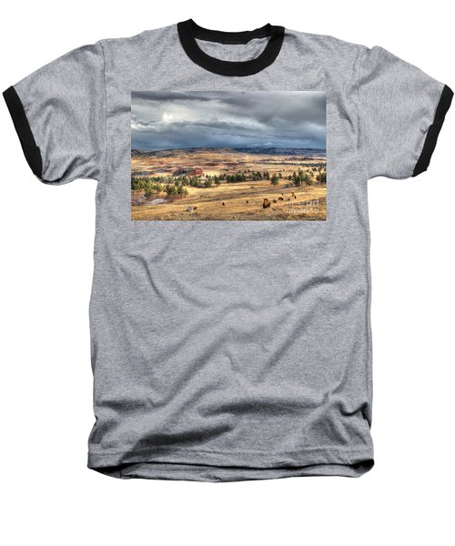 Buffalo Before The Storm Baseball T-Shirt