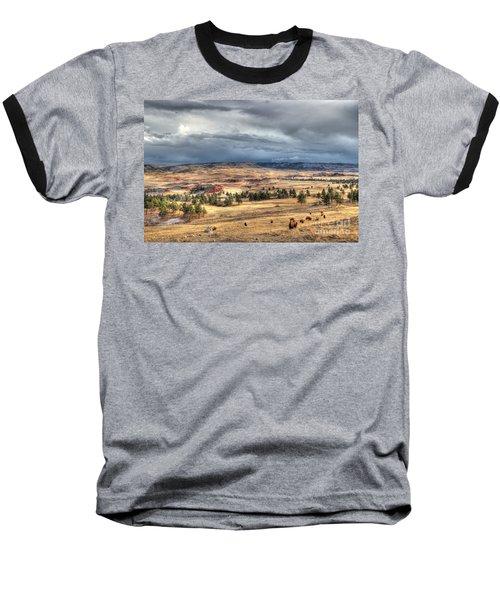 Baseball T-Shirt featuring the photograph Buffalo Before The Storm by Bill Gabbert
