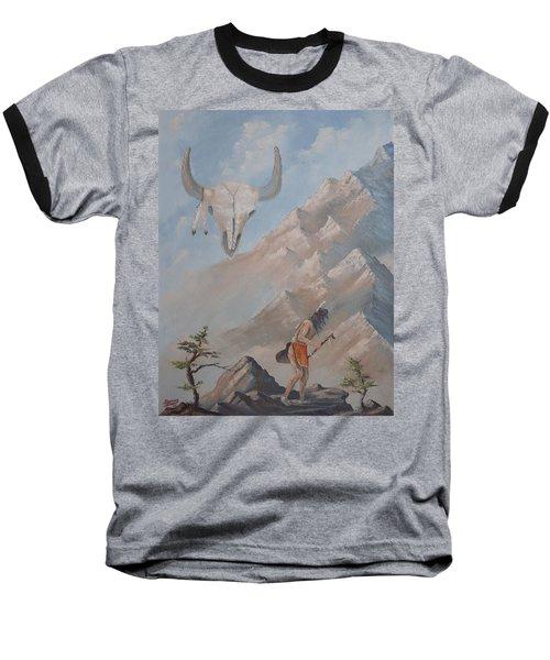 Buffalo Dancer Baseball T-Shirt by Richard Faulkner