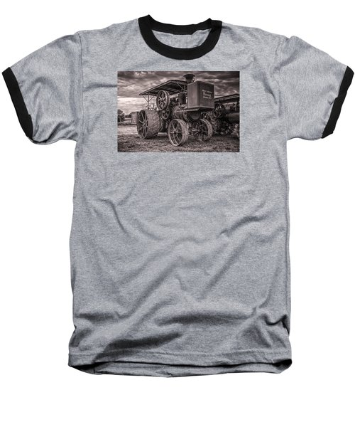 Buffalo Pitts Steam Traction Engine Baseball T-Shirt by Shelly Gunderson