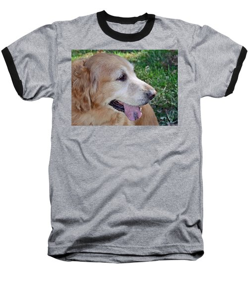 Baseball T-Shirt featuring the photograph Buffie by Lisa Phillips