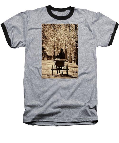 Buggy Ride Baseball T-Shirt by Joan Davis