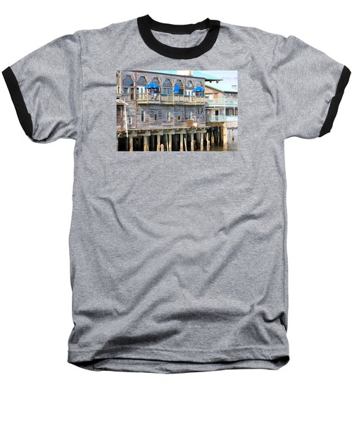 Building On Piles Above Water Baseball T-Shirt by Lorna Maza