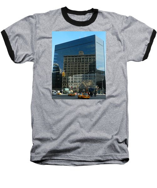 Baseball T-Shirt featuring the photograph Building Reflections Nyc by Emmy Marie Vickers