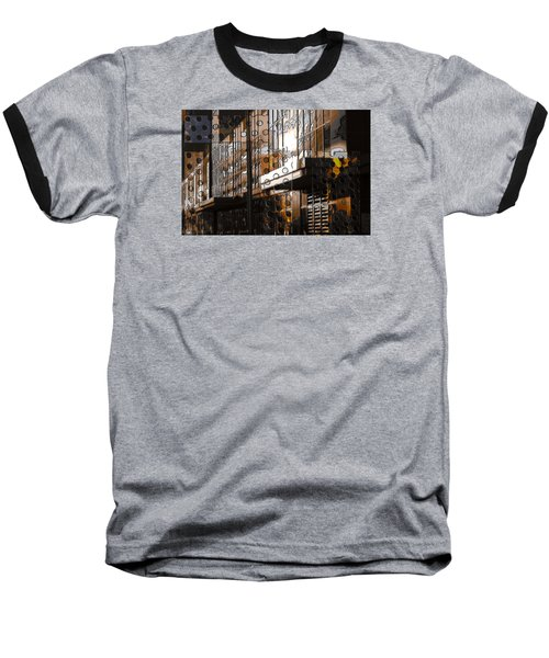 Building With Shimmering Circles Baseball T-Shirt by Don Gradner