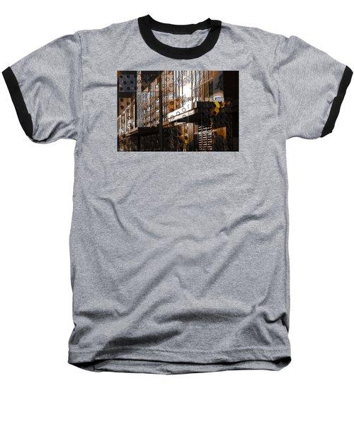 Building With Shimmering Circles Baseball T-Shirt