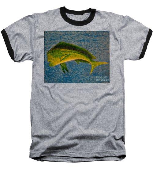 Bull Dolphin Mahimahi Fish Baseball T-Shirt