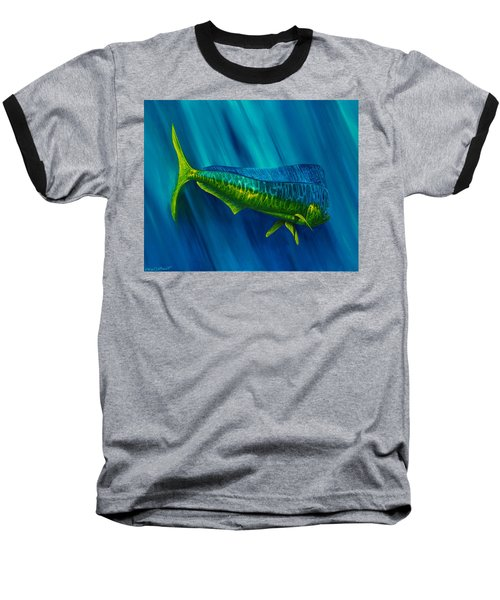 Bull Dolphin Baseball T-Shirt