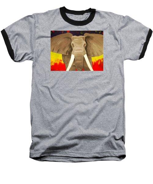 Bull Elephant Prime Colors Baseball T-Shirt