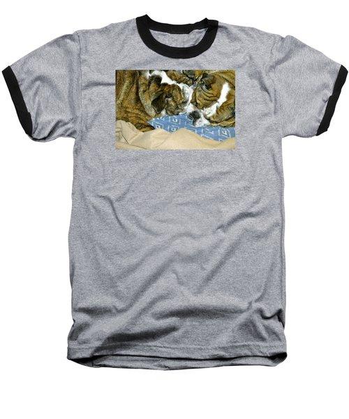 Bulldog Love Forever  Baseball T-Shirt