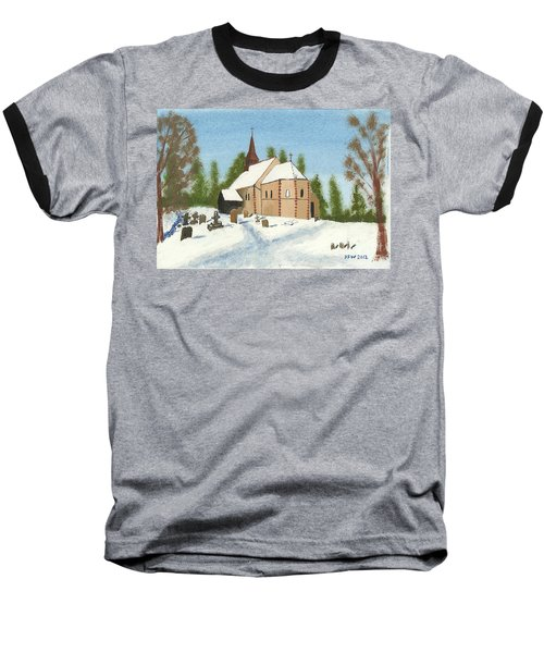 Baseball T-Shirt featuring the painting Bulley Church by John Williams