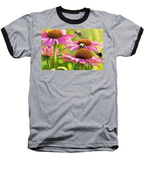 Bumbling Bees Baseball T-Shirt by Bill Pevlor