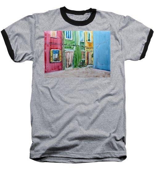 Baseball T-Shirt featuring the painting Burano by Anna Ruzsan