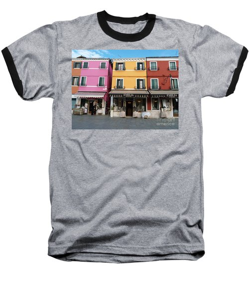 Baseball T-Shirt featuring the painting Burano by Robin Maria Pedrero