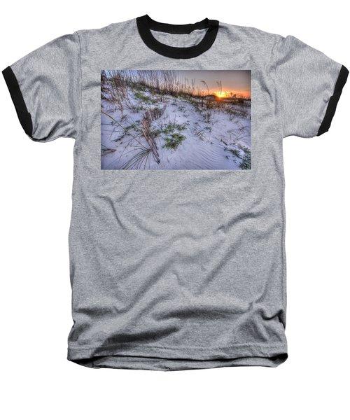 Buried Fences Baseball T-Shirt by Michael Thomas