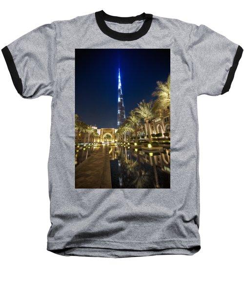 Baseball T-Shirt featuring the photograph Burj Khalifa Swoard by John Swartz