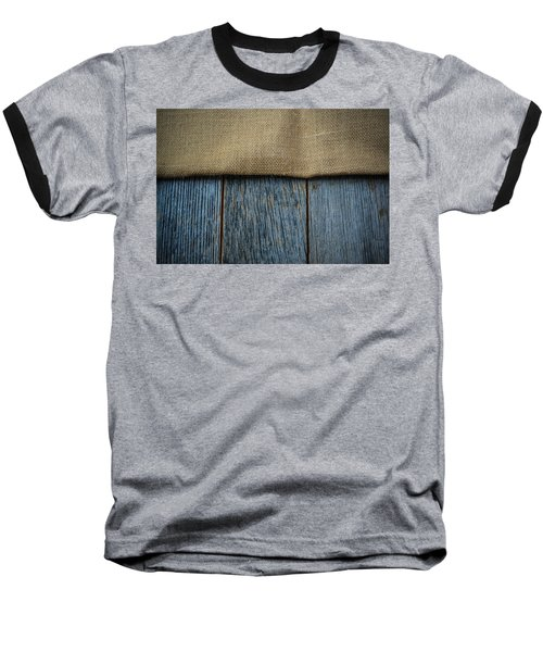 Burlap Texture On Wooden Table Background Baseball T-Shirt